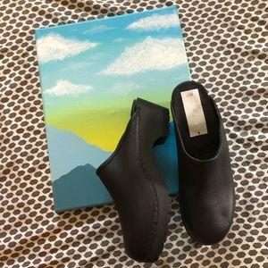 NWT Eddie Bauer Black Slip on Clog Mule Style Shoe